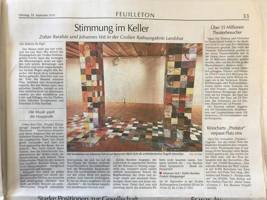 Barabas Veit Landshut Installation Klangspiegel
